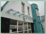 Cantilever Stainless Glass Canopy