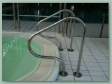 Stainless Handrail on Wall Mirror Finish