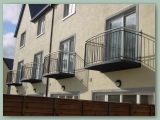 Curved Wall Mounted Balcony
