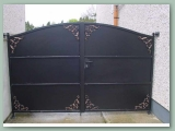 Metal Paneled Gate