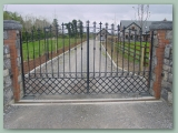 Wrought Iron Gate with Trellis