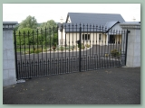 Wrought Iron Curved gate